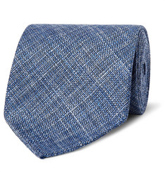 Emma Willis 9cm Woven Wool, Silk and Linen-Blend Tie
