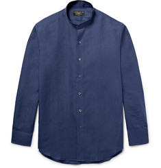 Emma Willis - Slim-Fit Grandad-Collar Linen Shirt