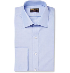 Emma Willis Blue Slim-Fit Double-Cuff Cotton Oxford Shirt