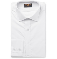Emma Willis Grey Slim-Fit Windowpane-Checked Cotton-Poplin Shirt