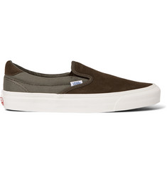 Vans OG 59 LX Canvas and Suede Slip-On Sneakers
