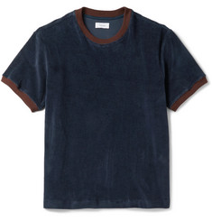 Fanmail Contrast-Trimmed Organic Cotton-Velour T-Shirt