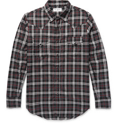Saint Laurent Slim-Fit Checked Cotton Western Shirt