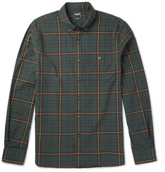 Todd Snyder Button-Down Collar Checked Cotton Shirt
