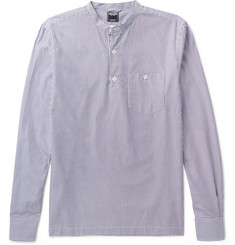 Todd Snyder Slim-Fit Grandad-Collar Striped Cotton Shirt