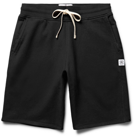 Reigning Champ Loopback Cotton-jersey Drawstring Shorts - Midnight blue kXKR51gvQ