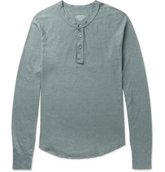 Save Khaki United Cotton-Blend Henley T-Shirt
