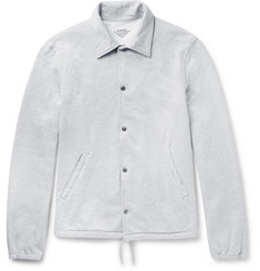 Save Khaki United Mélange Fleece-Back Cotton-Blend Jersey Jacket