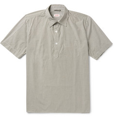 Arpenteur Half-Placket Gingham Cotton Shirt