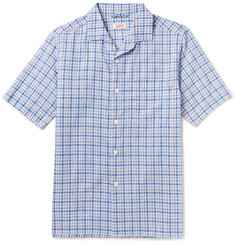 Arpenteur Cotton, Linen and Ramie-Blend Checked Shirt