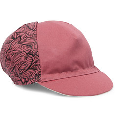 Cafe du Cycliste Printed Canvas Cycling Cap