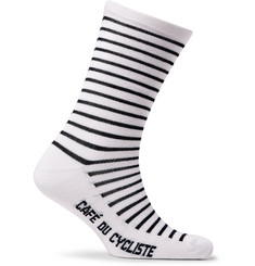 Cafe du Cycliste - Striped Merino Wool-Blend Socks
