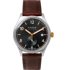 Farer Frobisher II Stainless Steel and Leather Watch