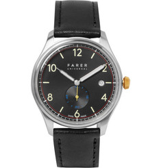 Farer Frobisher Original Stainless Steel and Leather Watch