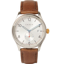 Farer - Stark Stainless Steel and Leather Watch