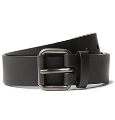 Álvaro 3.5cm Black Leather Belt