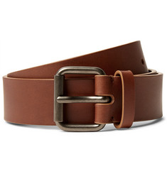 Álvaro 3.5cm Brown Leather Belt