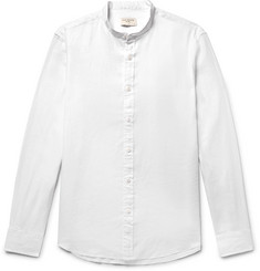 Club Monaco Slim-Fit Grandad-Collar Slub Linen Shirt