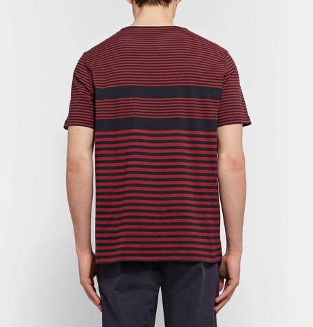 CLUB MONACO Striped Cotton-Jersey T-Shirt