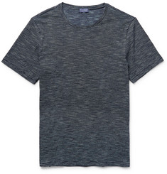 Club Monaco Space-Dyed Knitted Cotton T-Shirt