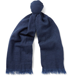 Begg & Co Kishorn Washed-Cashmere Scarf