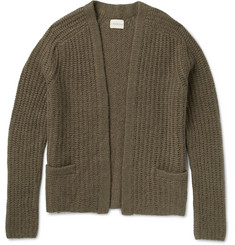 Simon Miller Ribbed-Knit Alpaca-Blend Cardigan