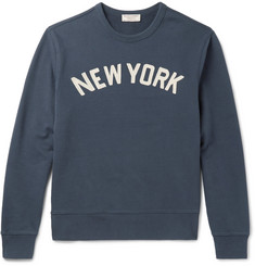 J.Crew Embroidered Loopback Cotton-Jersey Sweatshirt