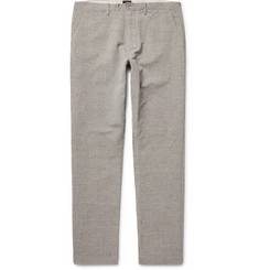 J.Crew 770 Slim-Fit Micro-Checked Slub Linen and Cotton-Blend Chinos