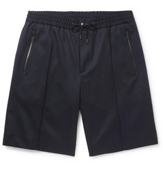 Solid Homme Stretch-Wool Twill Shorts