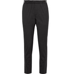 Solid Homme Shell-Trimmed Stretch-Wool Trousers
