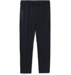 Solid Homme - Slim-Fit Grosgrain-Trimmed Stretch-Jersey Drawstring Trousers