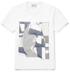 Solid Homme - Embroidered Printed Cotton-Jersey T-Shirt