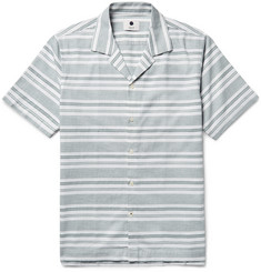 NN07 Miyagi Camp-Collar Striped Cotton Shirt