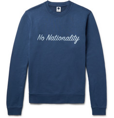 NN07 Printed Garment-Dyed Loopback Cotton-Jersey Sweatshirt