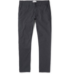 NN07 Marco Slim-Fit Mélange Stretch Cotton-Blend Trousers