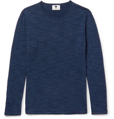 NN07 Jax Slim-Fit Mélange Cotton-Blend Sweater