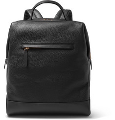 Globe-Trotter Grained-Leather Backpack