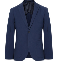 Club Monaco Blue Grant Slim-Fit Cotton-Seersucker Blazer