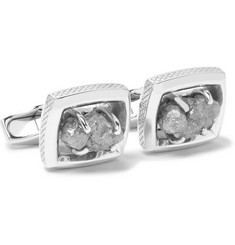 TATEOSSIAN - Signature Ruthenium-Plated Sterling Silver Rough Diamond Cufflinks