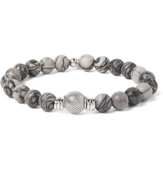 TATEOSSIAN Stonehenge Sterling Silver and Spiderweb Jasper Bracelet