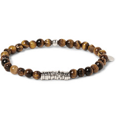 TATEOSSIAN - Sterling Silver and Tiger's Eye Bead Bracelet