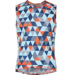Castelli Pro Printed Stretch-Mesh Cycling Tank Top