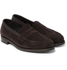 Edward Green Duke Suede Penny Loafers