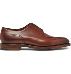Edward Green Dover Burnished-Leather Derby Shoes