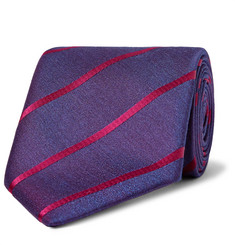 Charvet 8cm Striped Silk Tie
