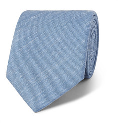 Charvet - 7.5cm Mélange Slub Silk and Linen-Blend Tie