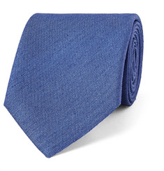 Charvet 7.5cm Mélange Slub Silk and Linen-Blend Tie
