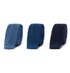 Charvet Set Of Three Knitted Silk Ties