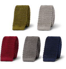Charvet Set Of Five Knitted Silk Ties