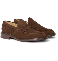 Tricker's - James Suede Penny Loafers